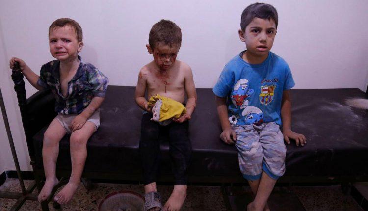 أرشيفية لأطفال في الغوطة الشرقية