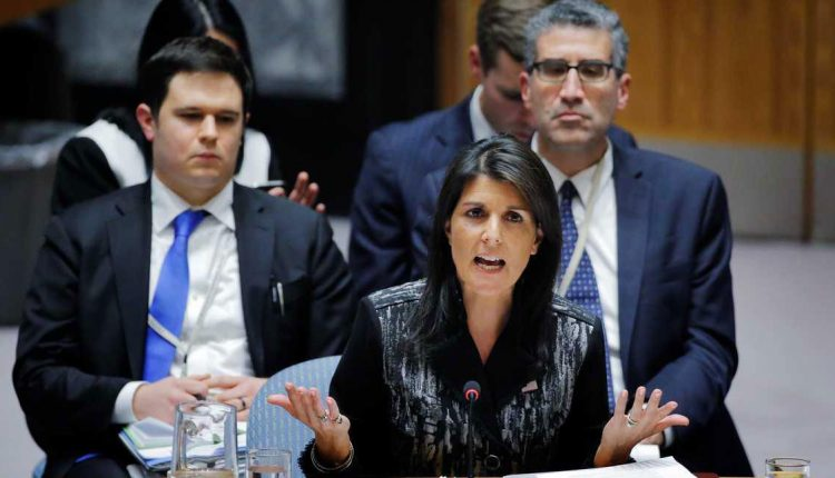 مندوبة الولايات المتحدة في الامم المتحدة